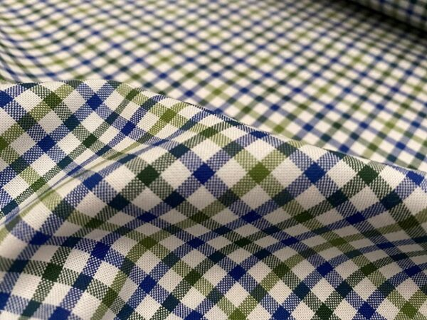 Sport Pinpoint 50 Green checked fabric