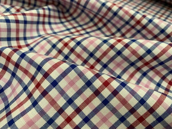 Sport Pinpoint 50 Pink checked fabric