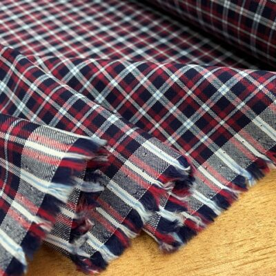 Sport Pinpoint 60 Red checked fabric