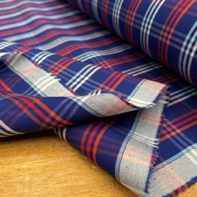 Hampton 240 Red checked fabric