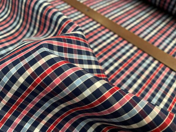 Hampton 220 Red checked fabric