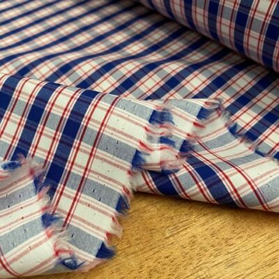 Hampton 200 Red checked fabric