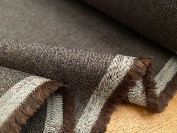 Fife HB Brown brushed herringbone
