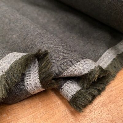 Fife HB Green brushed herringbone