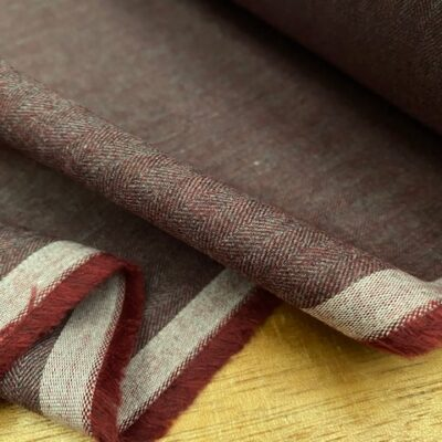 Fife HB Wine brushed herringbone