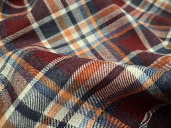 Fife 17 Wine brushed fabric