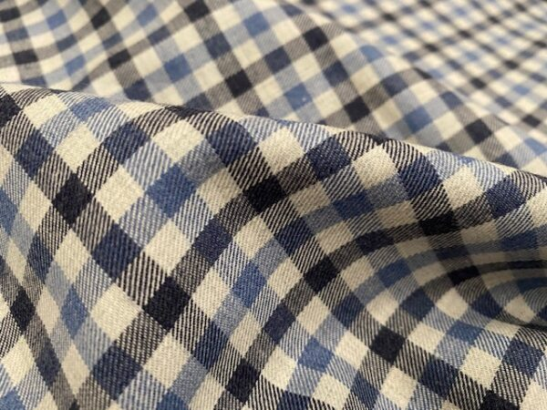 Fife 15 Blue brushed fabric