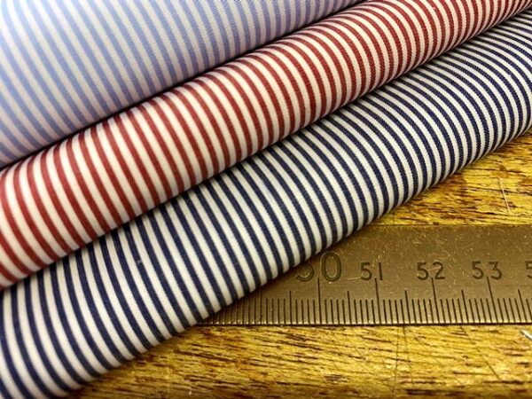 EZ King CC Red Striped Fabric