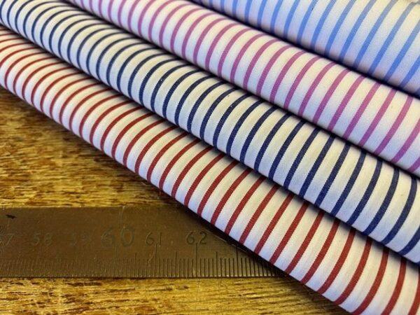 EZ King AC4 Navy Striped Fabric
