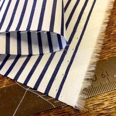EZ King AC6 Navy Striped Fabric