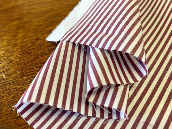 EZ King HD Wine Striped Fabric