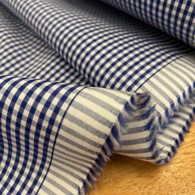 EZ King HE Marine Checked Fabric