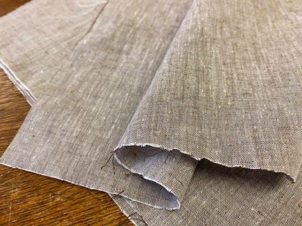 Aruba Plain Coffee Cotton & Linen Fabric