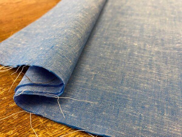 Aruba Plain Lagoon Blue Cotton & Linen Fabric