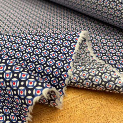 Hampton 415 blue printed fabric