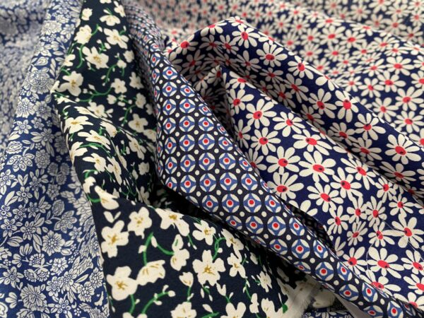 Hampton 420 blue printed fabric