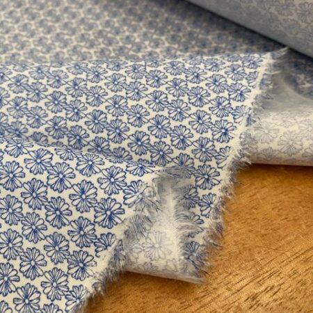 Hampton 430 blue printed fabric