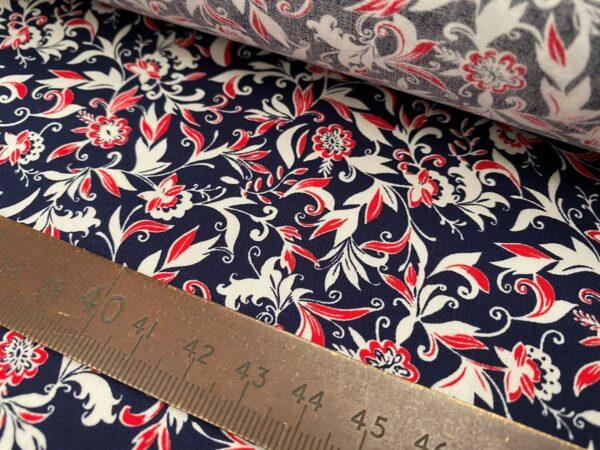 Hampton 435 navy printed fabric