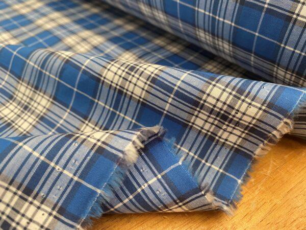 Hampton 125 blue check fabric