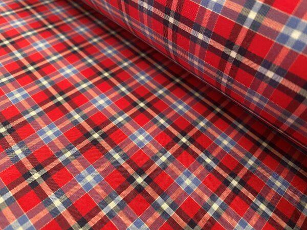 Hampton 162 red check fabric
